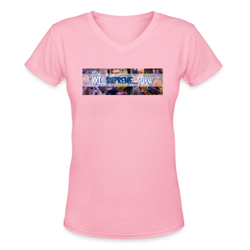 XXI SUPREME GOKU LOGO 2 - Women's V-Neck T-Shirt