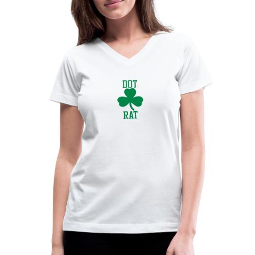 Dot Rat Clover - Women's V-Neck T-Shirt
