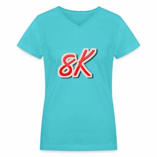 8K - Women's V-Neck T-Shirt