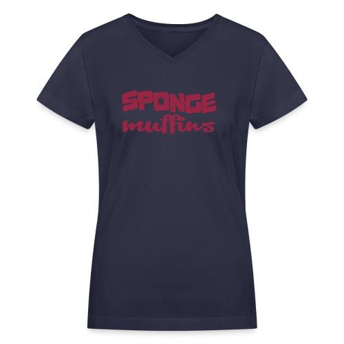 sponge - Women's V-Neck T-Shirt
