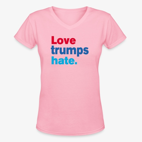 Love Trumps Hate - Women's V-Neck T-Shirt