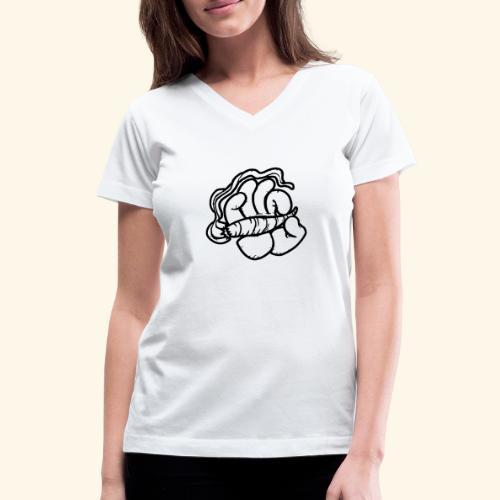 SMOKING HAND - HOODIE / SHIRT - Women's V-Neck T-Shirt