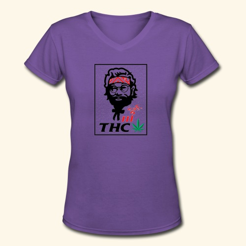 THC MEN - THC SHIRT - FUNNY - Women's V-Neck T-Shirt