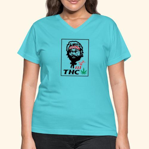 THC MEN - THC SHIRT - FUNNY - Women's V-Neck T-Shirt
