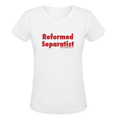 34 Separatist red lettering - Women's V-Neck T-Shirt