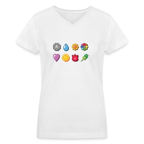 badges - Women's V-Neck T-Shirt
