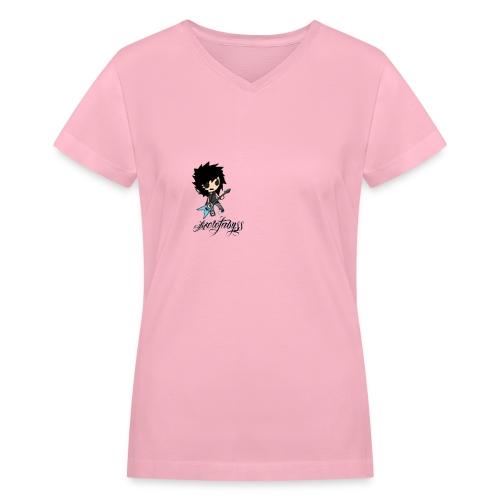 axelofabyss self portrait - Women's V-Neck T-Shirt