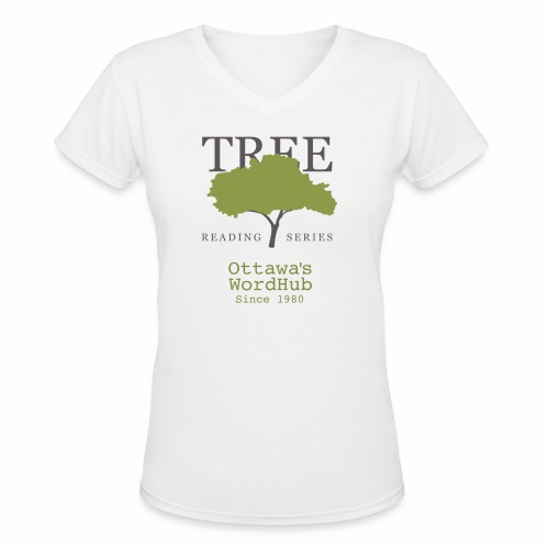 Tree Reading Swag - Women's V-Neck T-Shirt