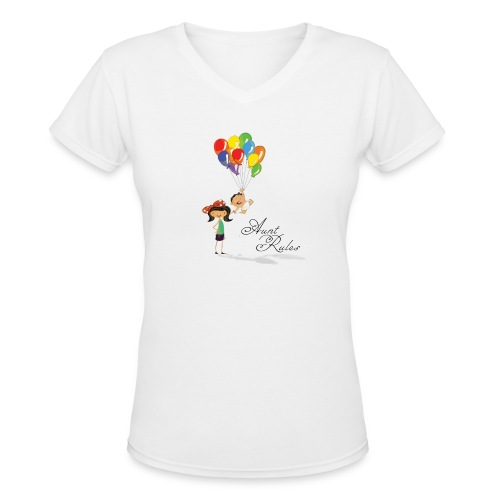 Aunt Rules - Women's V-Neck T-Shirt