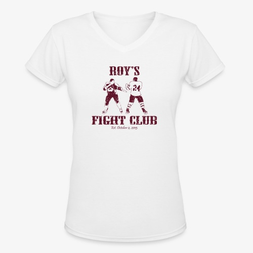 Roys FC Burgundy - Women's V-Neck T-Shirt