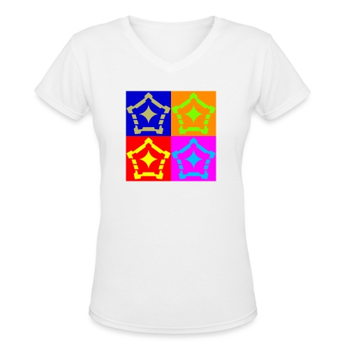 F Hypo Inside NonLayered gold vector ConvertImage - Women's V-Neck T-Shirt