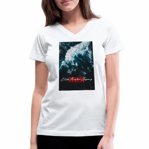 Oxnard Waves - Women's V-Neck T-Shirt
