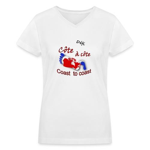 Défi côte à côte - Women's V-Neck T-Shirt