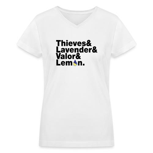 beatlesblack - Women's V-Neck T-Shirt