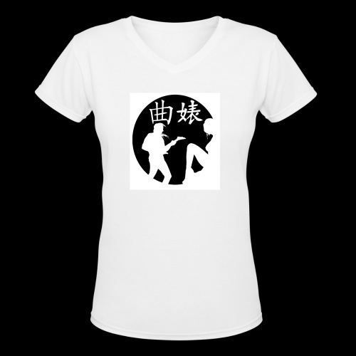 Music Lover Design - Women's V-Neck T-Shirt