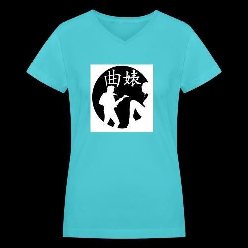 Music Lover Design - Women's V-Neck T-Shirt
