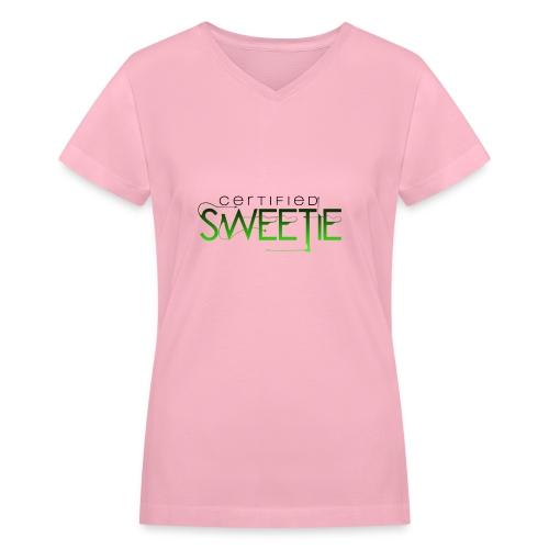 12 - Women's V-Neck T-Shirt