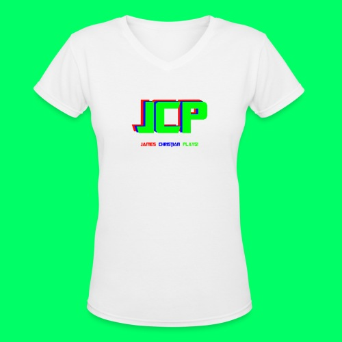 James Christian Plays! Original Set - Women's V-Neck T-Shirt