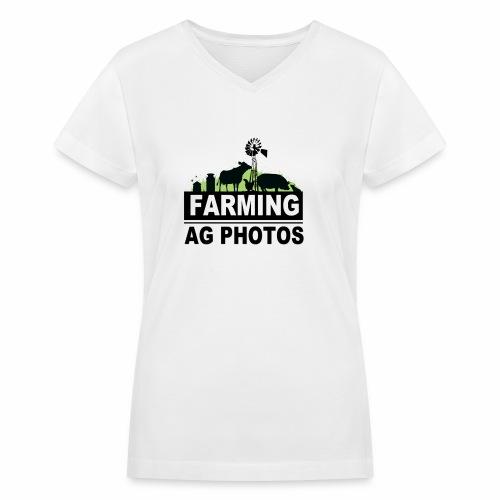 Farming Ag Photos - Women's V-Neck T-Shirt