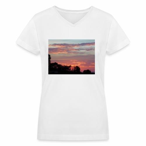 Sunset of Pastels - Women's V-Neck T-Shirt