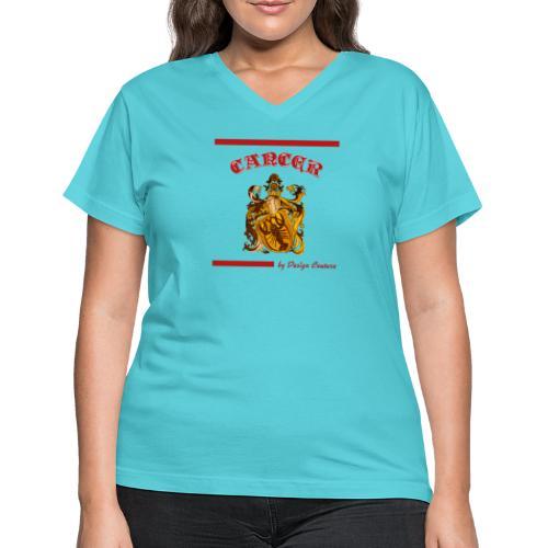 CANCER RED - Women's V-Neck T-Shirt