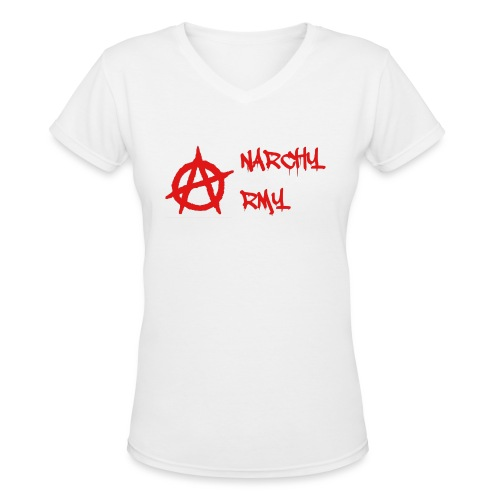 Anarchy Army LOGO - Women's V-Neck T-Shirt