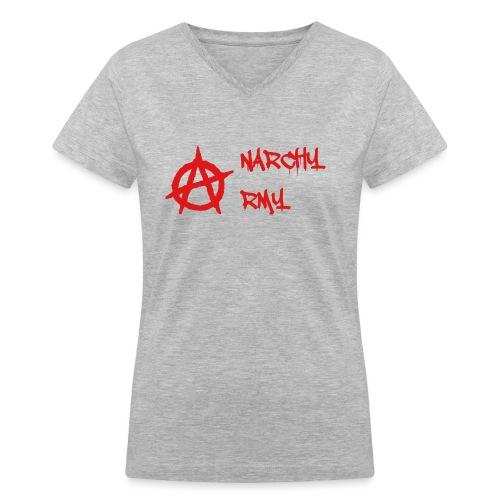 Anarchy Army LOGO - Women's V-Neck T-Shirt