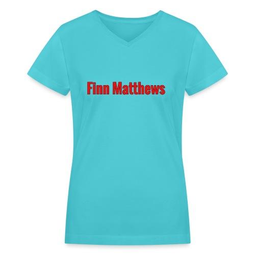 FM Logo - Women's V-Neck T-Shirt