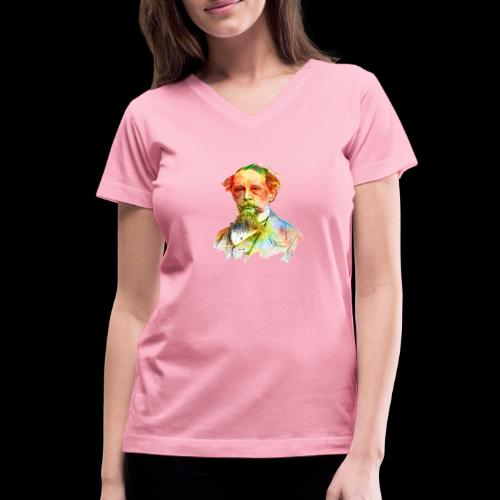 What the Dickens? | Classic Literature Lover - Women's V-Neck T-Shirt