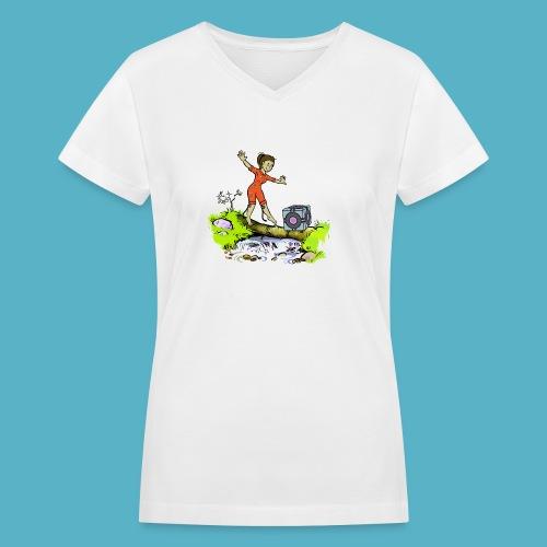 Testing Everywhere! - Women's V-Neck T-Shirt