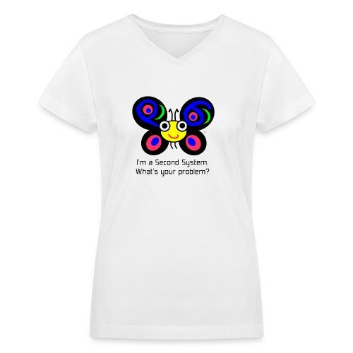 Camelia Second System - Women's V-Neck T-Shirt