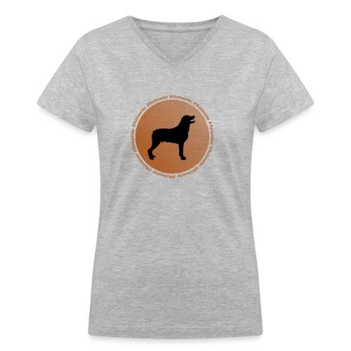 Rottweiler - Women's V-Neck T-Shirt