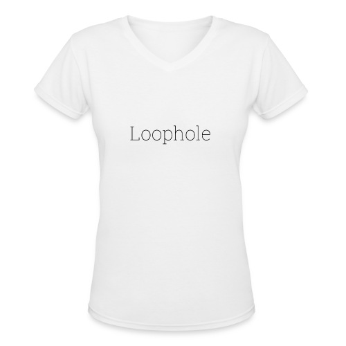 Loophole Abstract Design - Women's V-Neck T-Shirt