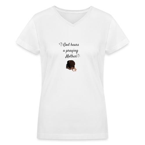Praying Mother - Women's V-Neck T-Shirt