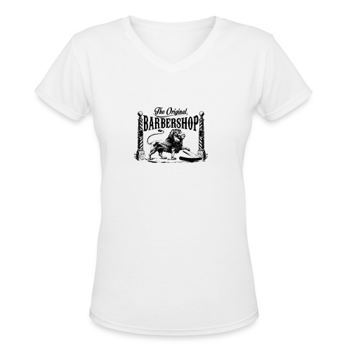 The Original Barbershop - Women's V-Neck T-Shirt