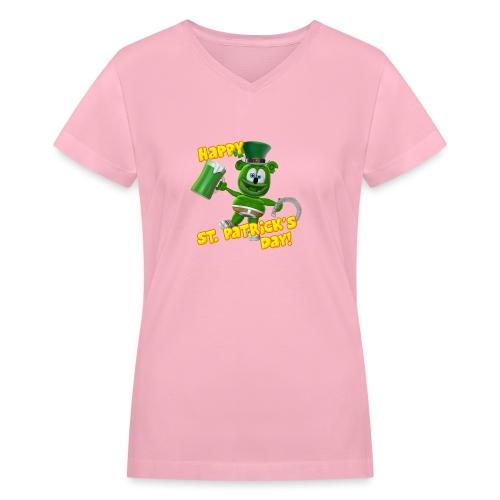 Gummibär (The Gummy Bear) Saint Patrick's Day - Women's V-Neck T-Shirt