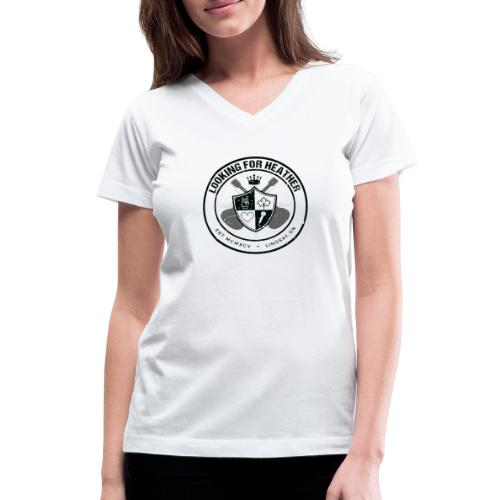 Looking For Heather - Crest Logo - Women's V-Neck T-Shirt