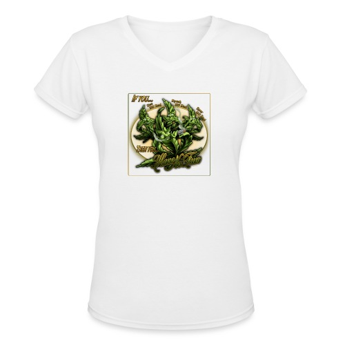 See No Bud by RollinLow - Women's V-Neck T-Shirt