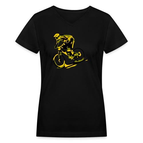 DH Freak - Mountain Bike Hoodie - Women's V-Neck T-Shirt
