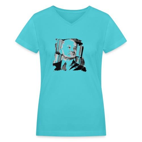 Ludwig von Mises Libertarian - Women's V-Neck T-Shirt