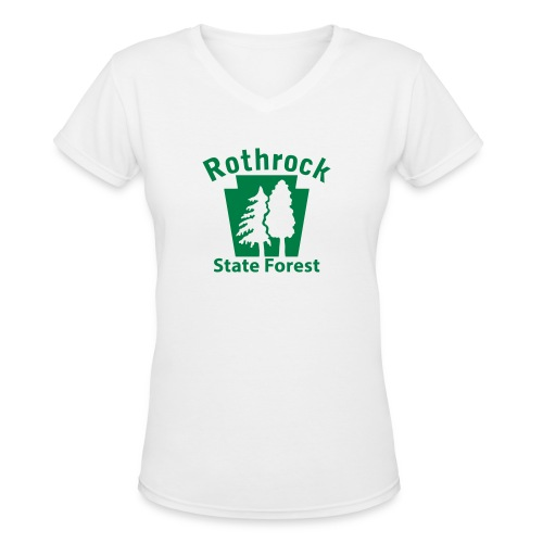 Rothrock State Forest Keystone (w/trees) - Women's V-Neck T-Shirt