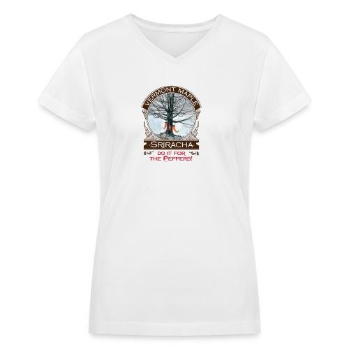 Vermont Maple Sriracha - Women's V-Neck T-Shirt