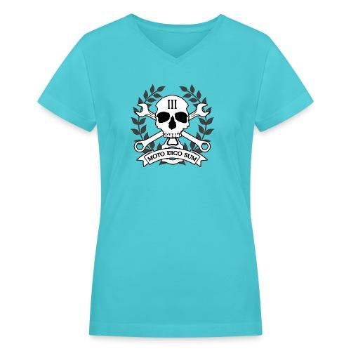 Moto Ergo Sum - Women's V-Neck T-Shirt