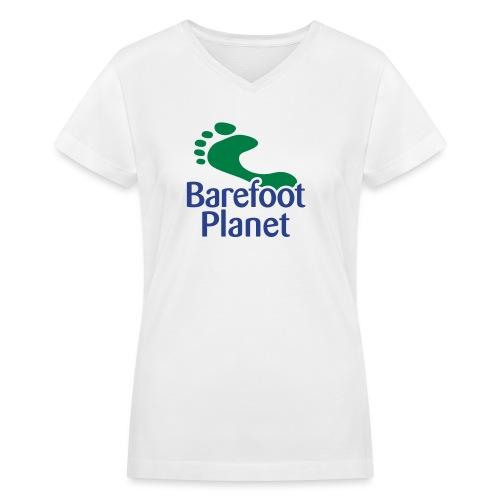 Barefoot Running 1 Women's T-Shirts - Women's V-Neck T-Shirt