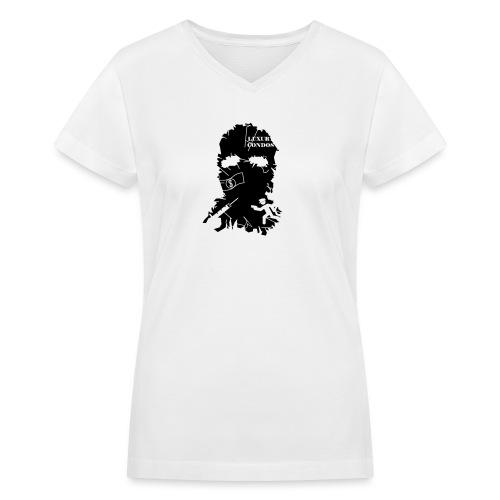 broken mask logo - Women's V-Neck T-Shirt