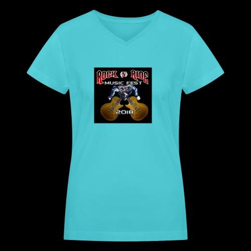 RocknRide Design - Women's V-Neck T-Shirt