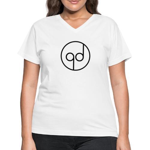 Black Icon - Women's V-Neck T-Shirt