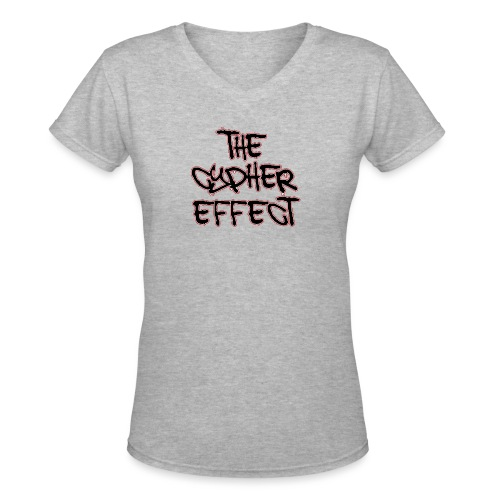 white shirt tce2 png - Women's V-Neck T-Shirt