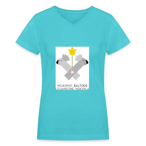 logo for tshirts 3copy - Women's V-Neck T-Shirt