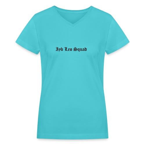 iyb leo squad logo - Women's V-Neck T-Shirt